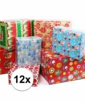 12 rollen kadopapier kerstmis
