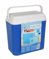 12 volt koelbox blauw 22 liter