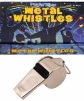 12 x metalen scheidsrechters fluitjes