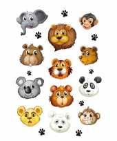 12x dierentuin dieren stickers 3d effect