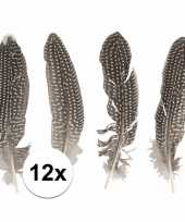12x fazanten veren ter decoratie