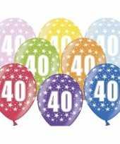 12x leeftijd versiering sterren ballonnen 40 jaar