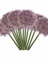 12x lila paarse allium sierui kunstbloemen 65 cm