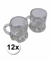 12x mini bierpul met handvat 2cl