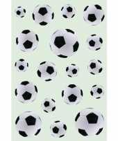 162x zwart witte voetballen stickers