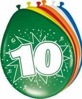 16x feestartikelen 10 jaar ballonnen