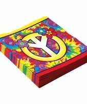 16x hippie themafeest servetten 33 cm