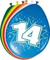 16x stuks ballonnen 14 jaar 30 cm