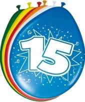16x stuks ballonnen 15 jaar 30 cm