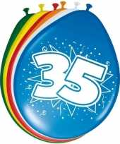 16x stuks ballonnen 35 jaar 30 cm
