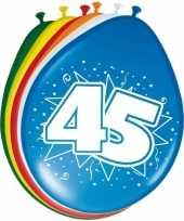 16x stuks ballonnen 45 jaar 30 cm