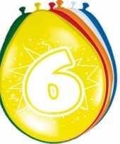 16x stuks ballonnen 6 jaar 30 cm