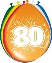 16x stuks ballonnen 80 jaar 30 cm