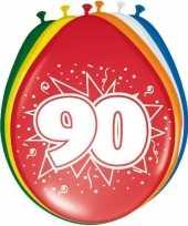 16x stuks ballonnen 90 jaar 30 cm