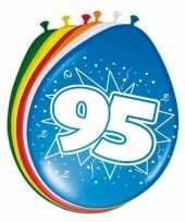 16x stuks ballonnen 95 jaar 30 cm