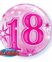 18 jaar feest folie ballon gevuld met helium 10089063