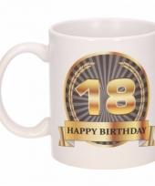 18e verjaardag koffiemok beker 300 ml