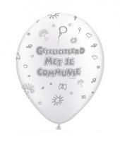 1e communie ballonnen