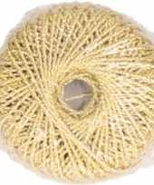1x gouden glitter touw 20 meter hobby cadeaulint