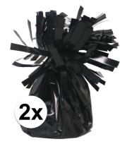 2 ballongewichten zwart 170 gr