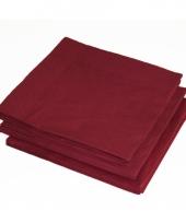 2 laags servetten bordeaux rode kleur 25 stuks