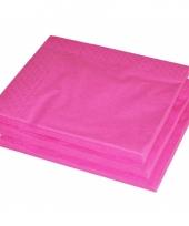 2 laags servetten fuchsia roze kleur 25 stuks