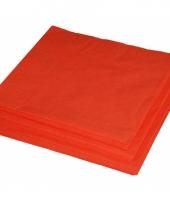 2 laags servetten oranje kleur 25 stuks