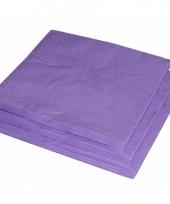 2 laags servetten paarse kleur 25 stuks