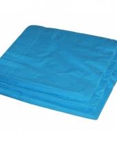 2 laags servetten turquoise kleur 25 stuks