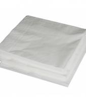 2 laags servetten wit 25 stuks