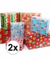 2 rollen kadopapier kerstmis