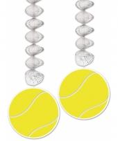 2 stuks tennisbal rotorspiraal decoratie 76 cm