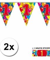 2 vlaggenlijnen 1 jaar met gratis sticker