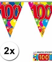 2 vlaggenlijnen 100 jaar met gratis sticker