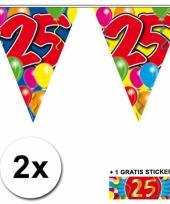 2 vlaggenlijnen 25 jaar met gratis sticker