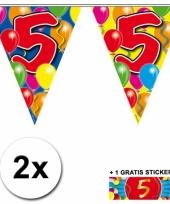 2 vlaggenlijnen 5 jaar met gratis sticker