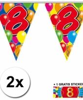 2 vlaggenlijnen 8 jaar met gratis sticker