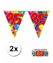 2 vlaggenlijnen 85 jaar met gratis sticker