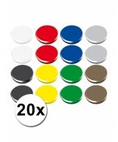 20 gekleurde magneten 24 mm