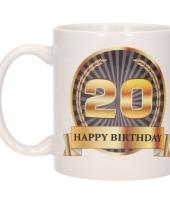 20e verjaardag koffiemok beker 300 ml