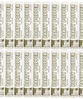 20x confetti popper zilver goud 26 cm