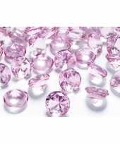 20x diamanten lichtroze 2 cm