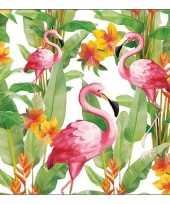 20x flamingo exotisch thema servetten 33 x 33 cm