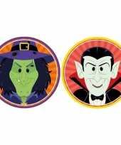 20x halloween onderzetters heks en vampier dracula