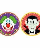 20x halloween onderzetters horror clown en vampier dracula