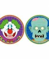 20x halloween onderzetters horror clown en zombie