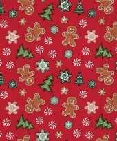 20x kerst dessin servetten rood 33 x 33 cm