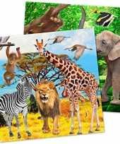 20x safari jungle themafeest servetjes 33 cm