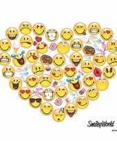 20x smileys hart servetten 33 x 33 cm