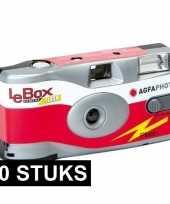 20x wegwerp agfaphoto lebox 400 camera met flitser